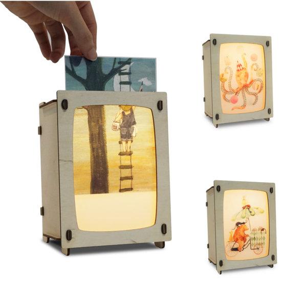 Houtlokael Wissellamp Ansichtkaart