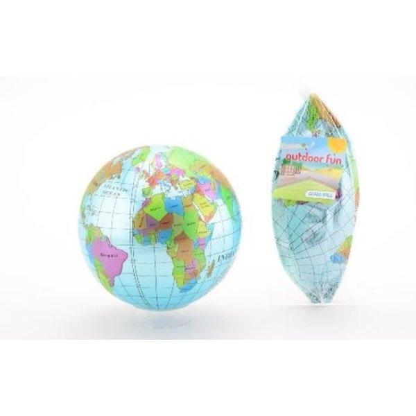 JohnToy Strandbal Wereld 35cm opblaasbaar