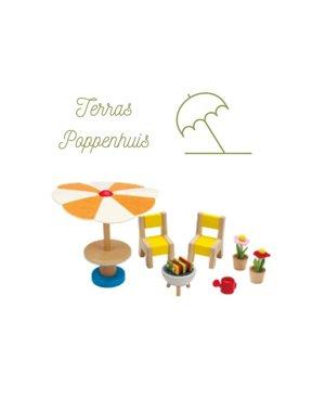 Hape Poppenhuis Terrasset