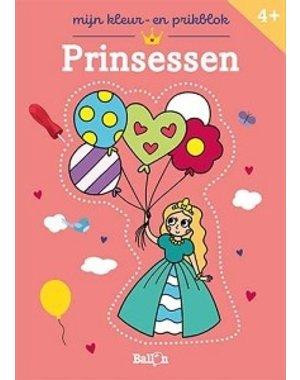 Mijn kleur-en prikblok Prinsessen. 4+