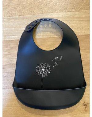 Jut & Julie Siliconen slab zwart blaasbloem