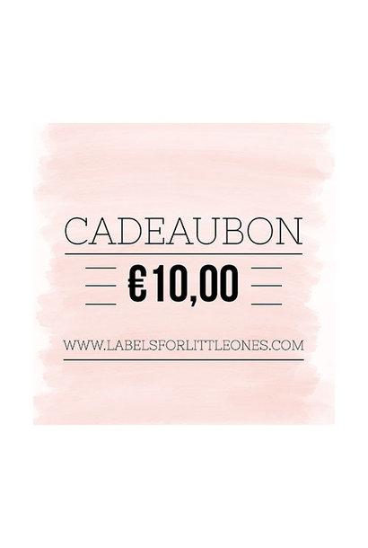 Cadeaubon €10 // Labels for Little Ones
