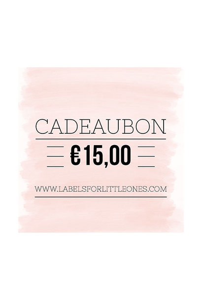 Cadeaubon €15 // Labels for Little Ones