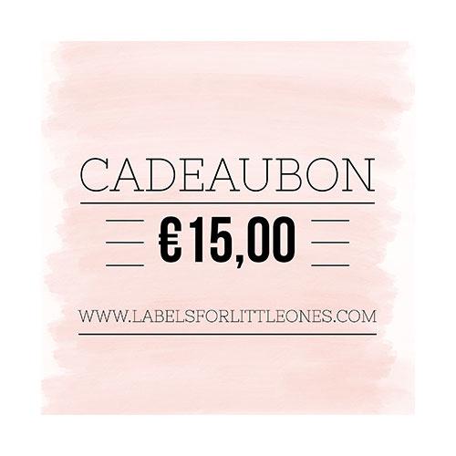Cadeaubon €15 // Labels for Little Ones-1