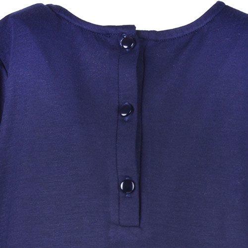 Hucklebones London Bow T-Shirt Supersoft Jersey Navy Gold (Top)-5