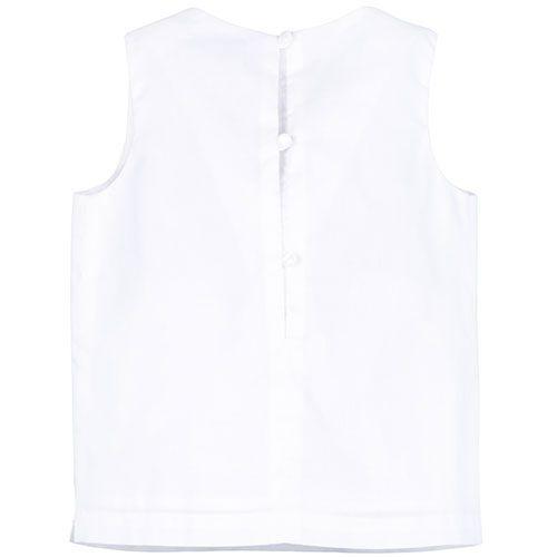 Hucklebones London Bow Shell Top Ivory Metallic Blossom Jacquard (Shirt)-4