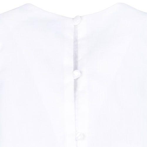 Hucklebones London Bow Shell Top Ivory Metallic Blossom Jacquard (Shirt)-5
