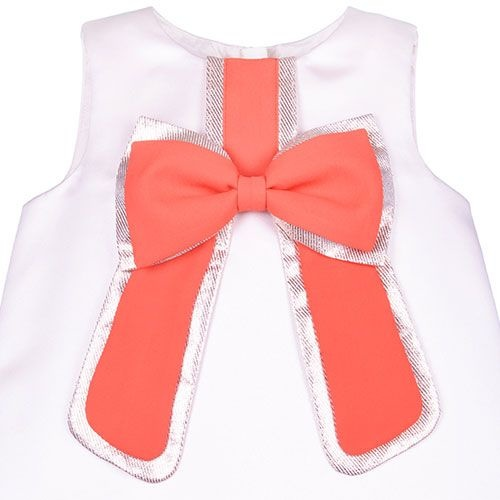 Hucklebones London Gilded Bow Shift Dress Dutchess Satin Strawberry (Jurk)-3