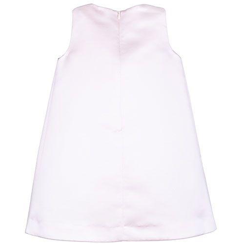 Hucklebones London Gilded Bow Shift Dress Dutchess Satin Strawberry (Jurk)-4