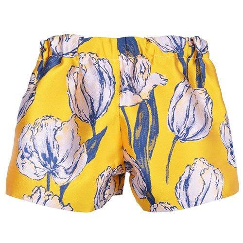 Hucklebones London Tulip Jacquard Shorts Marigold Navy (Korte Broek)-3