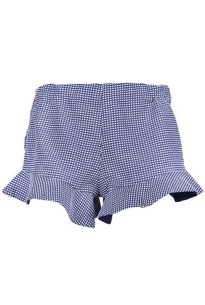 Hucklebones London Peplum Shorts Navy Blue (Korte Broek)