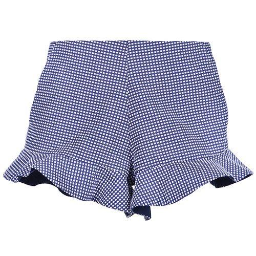 Hucklebones London Peplum Shorts Navy Blue (Korte Broek)-3
