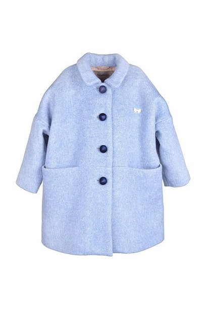 Hucklebones London Cocoon Coat Blue Haze (Jas)
