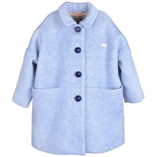 Hucklebones London Cocoon Coat Blue Haze (Jas)-1