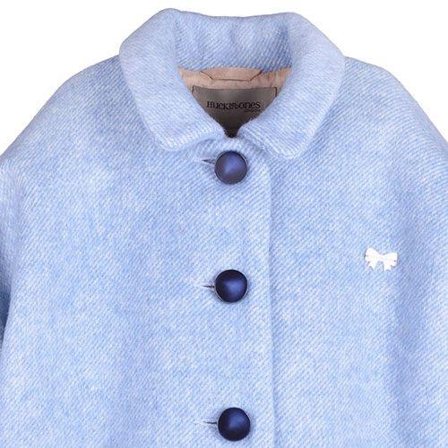 Hucklebones London Cocoon Coat Blue Haze (Jas)-6