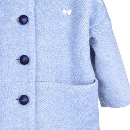 Hucklebones London Cocoon Coat Blue Haze (Jas)-7