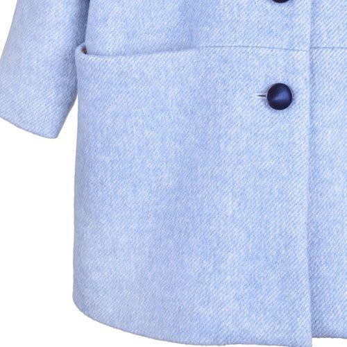 Hucklebones London Cocoon Coat Blue Haze (Jas)-8