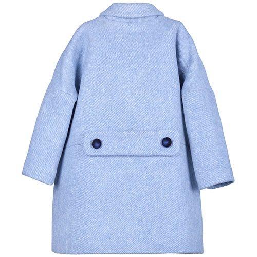 Hucklebones London Cocoon Coat Blue Haze (Jas)-5