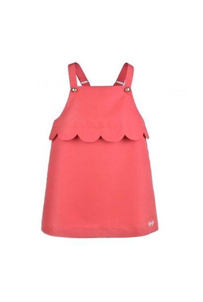 Hucklebones London Scalloped Pinafore Dress Cranberry (Jurk)