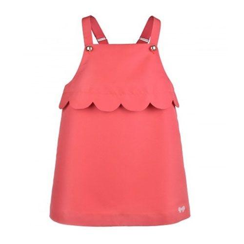 Hucklebones London Scalloped Pinafore Dress Cranberry (Jurk)-1
