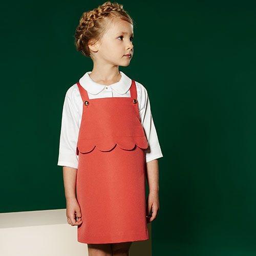 Hucklebones London Scalloped Pinafore Dress Cranberry (Jurk)-2