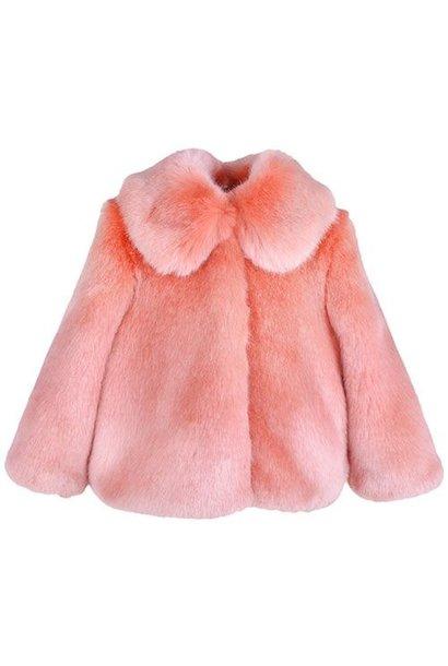 Hucklebones London Faux Fur Jacket Milkshake (Jas)