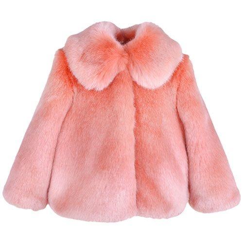 Hucklebones London Faux Fur Jacket Milkshake (Jas)-1