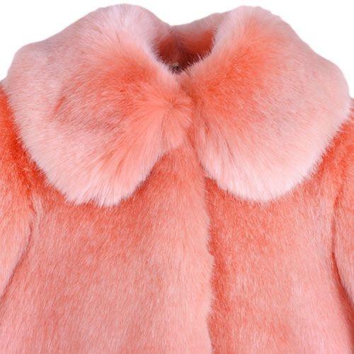 Hucklebones London Faux Fur Jacket Milkshake (Jas)-4