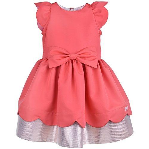 Hucklebones London Scalloped Bodice Dress Cranberry (Jurk)-1