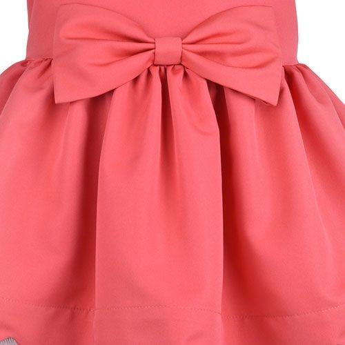 Hucklebones London Scalloped Bodice Dress Cranberry (Jurk)-4