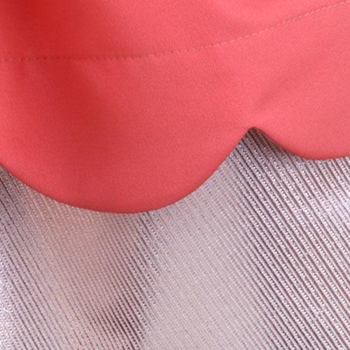 Hucklebones London Scalloped Bodice Dress Cranberry (Jurk)-6