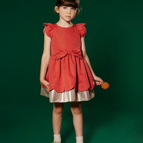 Hucklebones London Scalloped Bodice Dress Cranberry (Jurk)-2