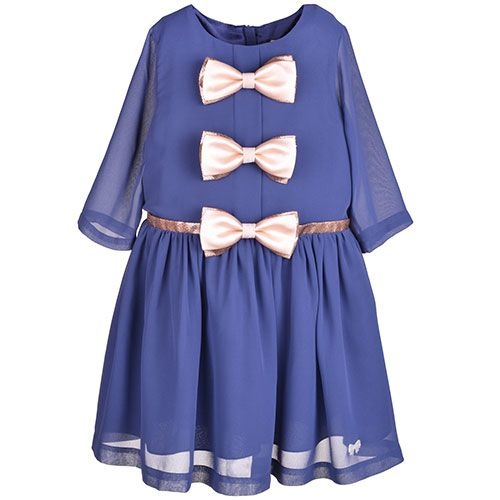 Hucklebones London Tea Dress Midnight (Jurk)-1