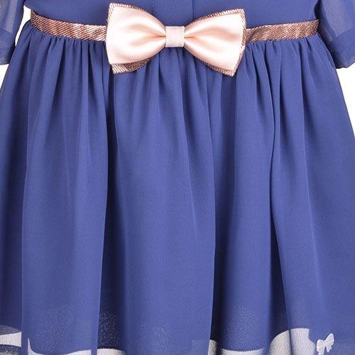 Hucklebones London Tea Dress Midnight (Jurk)-4