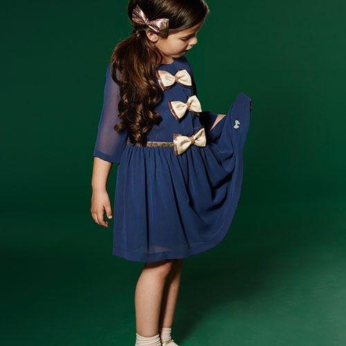 Hucklebones London Tea Dress Midnight (Jurk)-2