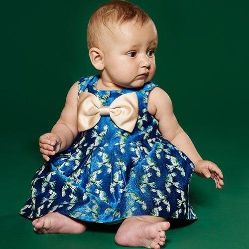 Hucklebones London Bodice Dress & Bloomers Jade Shimmer (Jurk)-2