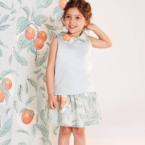 Hucklebones Sweet as a Peach Shell Top-2