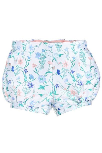Hucklebones Bubble Shorts Wallpaper Floral Jacquard
