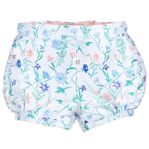 Hucklebones Bubble Shorts Wallpaper Floral Jacquard-1