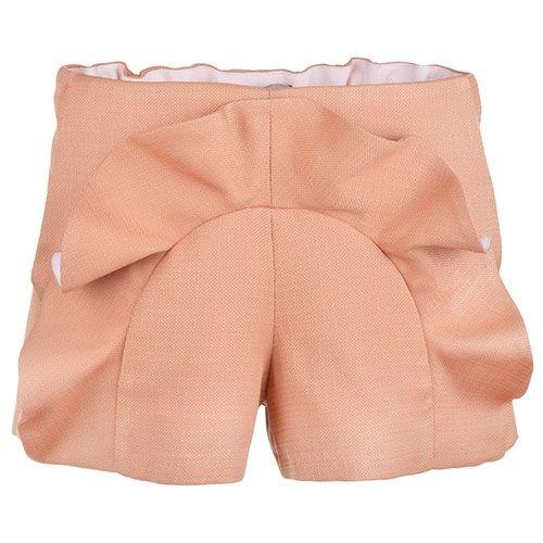 Hucklebones Ruffle Shorts Caramel-1