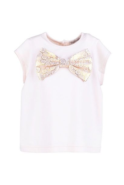 Hucklebones Bow Top Gilted Teacup (t-shirt)
