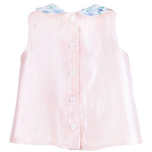 Hucklebones Scalloped Collar Blush Blouse-3