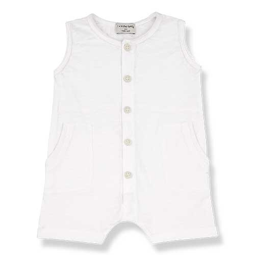 1+ in the family Troia Romber Slub Cotton Jersey off-white (Romper)-1