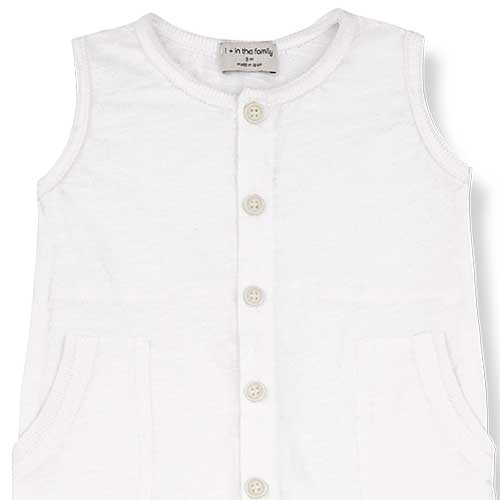 1+ in the family Troia Romber Slub Cotton Jersey off-white (Romper)-2