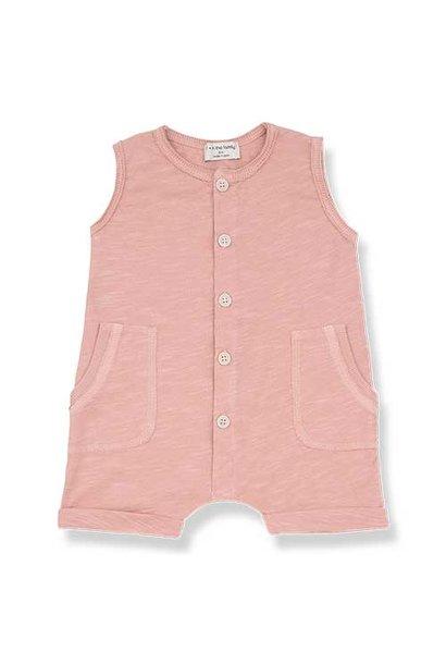 1+ in the family Troia Romber Slub Cotton Jersey rose (Romper)