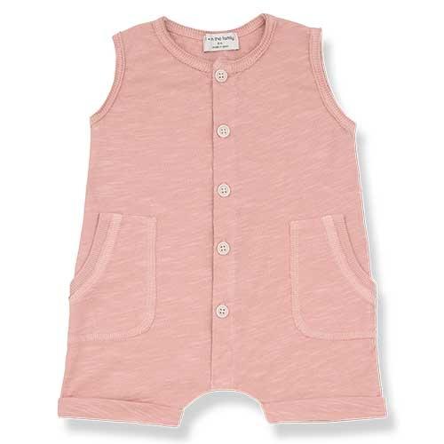 1+ in the family Troia Romber Slub Cotton Jersey rose (Romper)-1