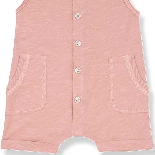 1+ in the family Troia Romber Slub Cotton Jersey rose (Romper)-3