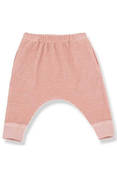 1+ in the family Sassari Baggy Pants Stripes Terry Jersey rose (Broek)