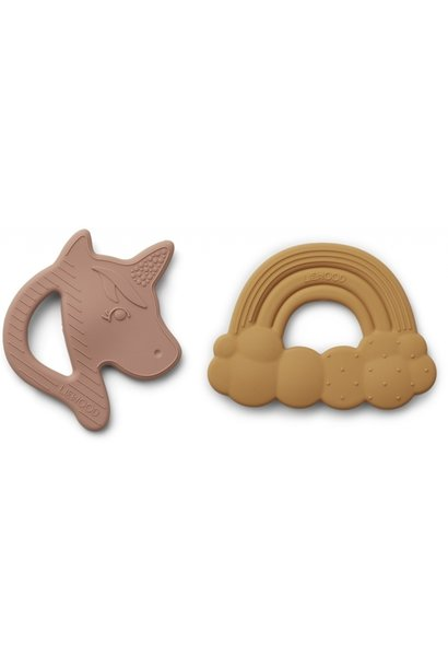 Liewood Roxie Silicone Teether 2 Pack Rose Mix (Bijtring)