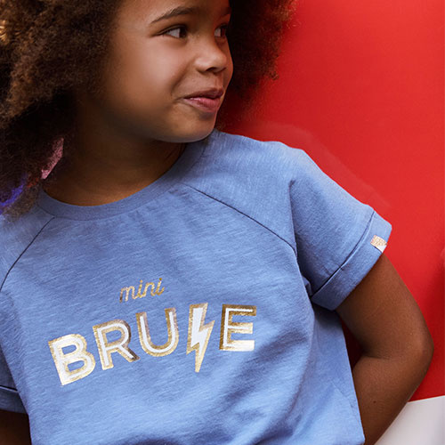 "Blune Paris ""Mini Brune"" Shirt Fille Stone (T-shirt)-5"